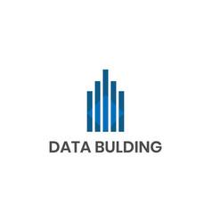 data building logo design inspiration vector image