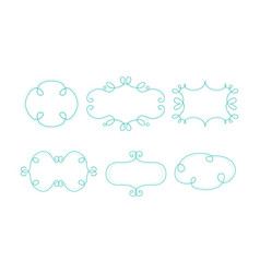 decorative frames different shapes with space vector image