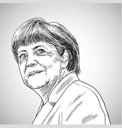Drawing of angela merkel vector