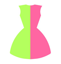 dress in two colors vector image