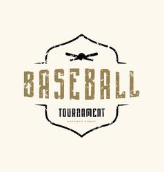 emblem of baseball tournament vector image