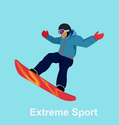extreme sport snowboard design vector image