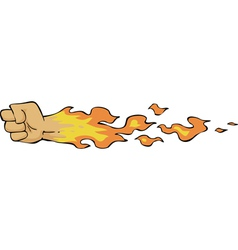 fire fist vector image