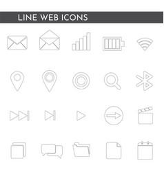 flat web icons 1244 vector image