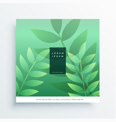 green nature cover page design background vector image