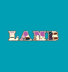 Lamb concept word art vector