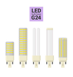 led light g24 bulbs colorful icon set vector image