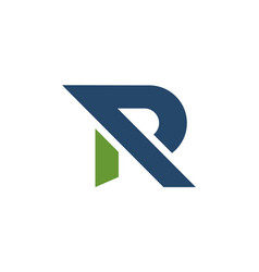 letter r graphic logo icon vector image