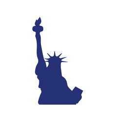 liberty statue icon design template isolated vector image