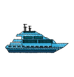 luxury yacht isolated vector image