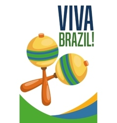 Maraca instrument of brazil design vector