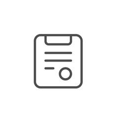 medical prescription line icon vector image