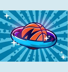 modern professional emblem basketball vector image
