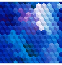 Multicolor cubic mosaic Seamless background vector image