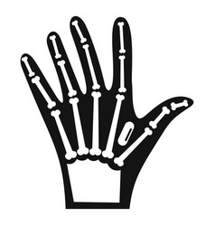 Nfc hand implant icon simple style vector