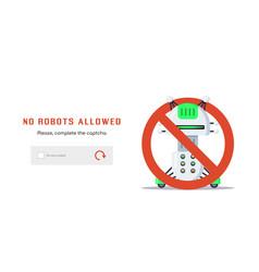 no robots allowed vector image