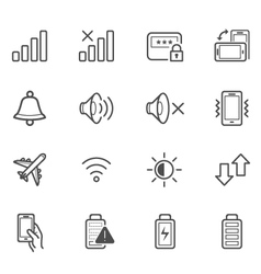Notification Icons for Mobile Phone vector