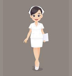 nurse in white uniform vector image