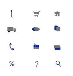 Online shoping icons two colors vector image