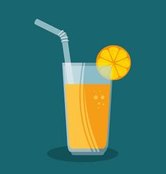 Orange juice fruit icon vector