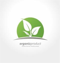 Organic product logo healthy food farm vector