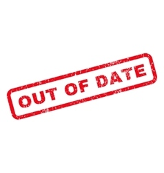 Out of date rubber stamp vector