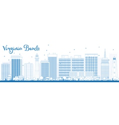 Outline Virginia Beach Skyline vector