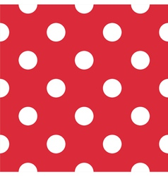 Pattern with white polka dots on red background vector image