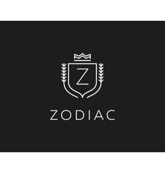 Premium monogram letter Z initials ornate vector image