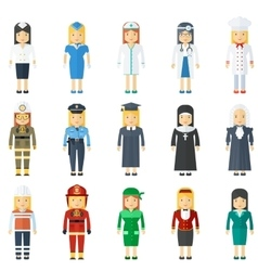 professions for woman vector image