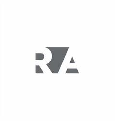 Ra logo monogram with negative space style design vector