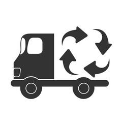 Recycle car icon design vector