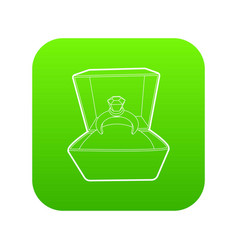 Ring icon green vector