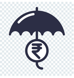 Safe and secure indian rupee investment vector