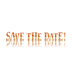 save date in gold lettering vector image