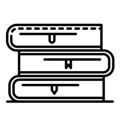 school book stack icon outline style vector image