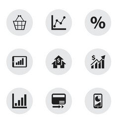 Set of 9 editable logical icons includes symbols vector