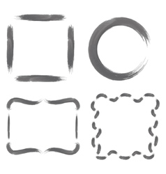 Set with Greyscale Watercolour Frames vector