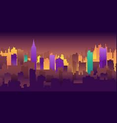 silhouette city structure downtown urban vector image