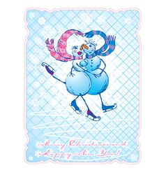 snowman postcards 1 380 vector image