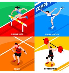 Sport Isometric Concept vector image