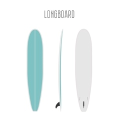 Surf long board with three sides vector