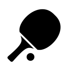 Table tennis simple icon vector