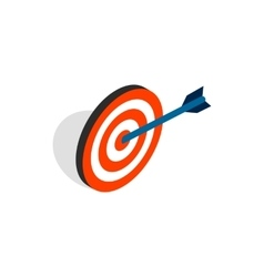 Target with arrow icon isometric 3d style vector image