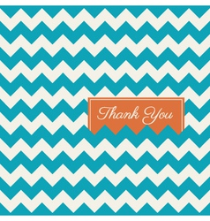 Thank you card chevron background vector