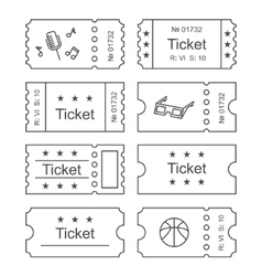 Ticket set icon vector image