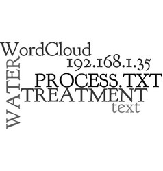 Water treatment process text word cloud concept vector