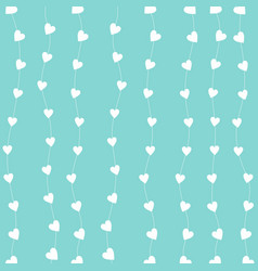 White heart chain with a light blue background vector