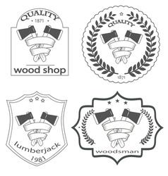 woodsman vector image