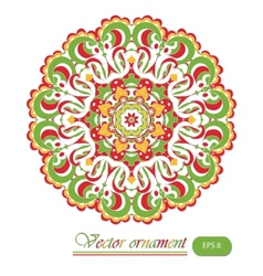 Beautiful summer lace ornament background vector image